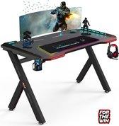 Gaming bureau met Led verlichting 120cm - Y poot - For The Win®