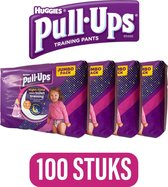 4x Huggies Pull-Ups Toilet Training Broekjes Meisjes 25 stuks,optrekluiers - luiers - pampers - trainingbroekjes ,toilettraining
