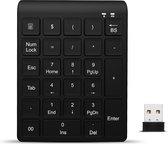 Draadloos numeriek toetsenbord - Numpad / keypad - inclusief batterijen - plug and play - 27 toetsen - Zwart