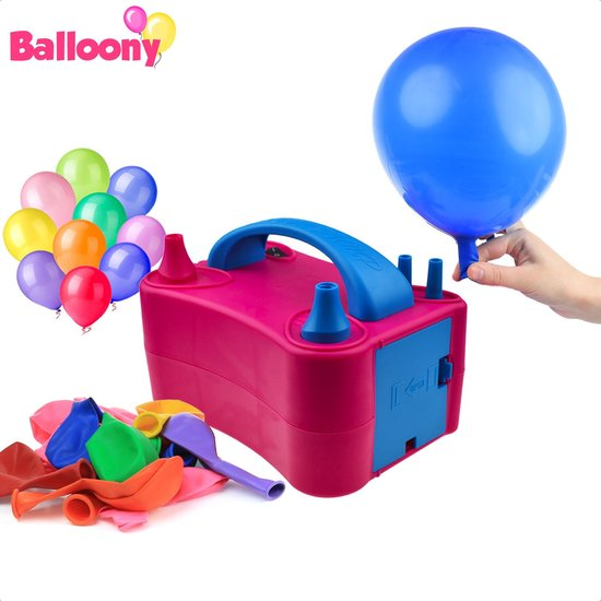 Balloony™ Elektrische Ballonnenpomp met Dubbele Vultuiten - Ballonpomp - Elektrische Ballon Pomp -  400W - Decoratie & Feest - Snel Ballonnen Opblazen - Ballonnenboog - Elektrische Luchtpomp - Feest - Verjaardag Decoratie