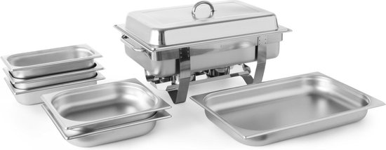 Hendi Chafing Dish + 5 extra Bakken - RVS 18/0 - GN 1/1 - 9 Liter -...