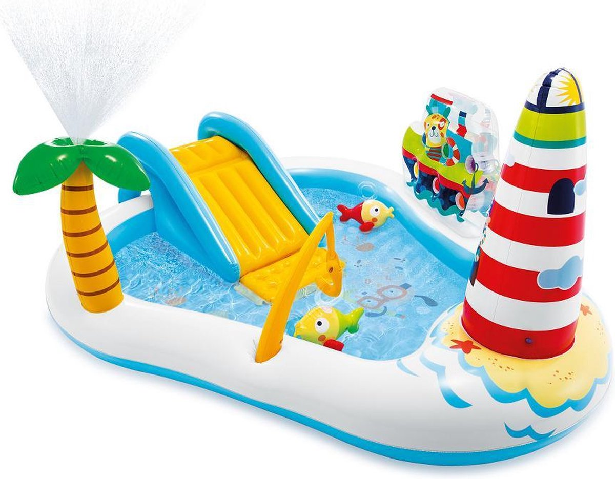 Intex Speelzwembad Fishing Fun - 219x188x99cm