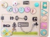 Ontdek bord - montessori speelgoed - duurzaam kinderspeelgoed - houten speelgoed