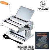 MAEUX® Pastamachine – Pastamaker – Pasta – Keukengereedschap – Antislip bodem – Inclusief e-book en pastatang
