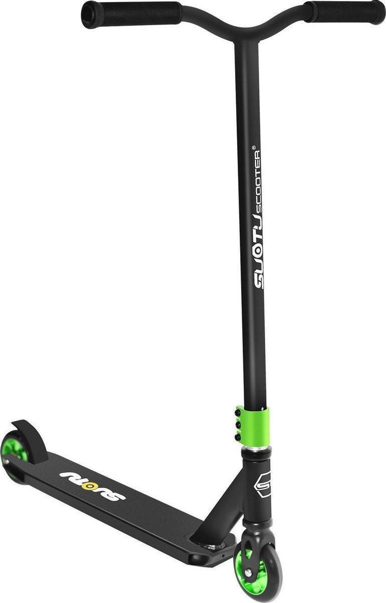 SUOTU R10 - Stoer Stuntstep -Vanaf 6 jaar - jongen en meisje - Voetrem - innovatie - Niet-Elektrisch - Aluminium Velgen - Max 25 km/u - groen