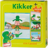 De wereld van Kikker - 4in1 puzzelset - 4+6+9+16 stukjes - kinderpuzzel