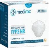FFP2 Mondkapje Mondmasker 20 stuks -  gesealed verpakt - Gecertificeerd CE - goed ademend en veilig. Voor civiel gebruik mondkapje extra kwaliteit