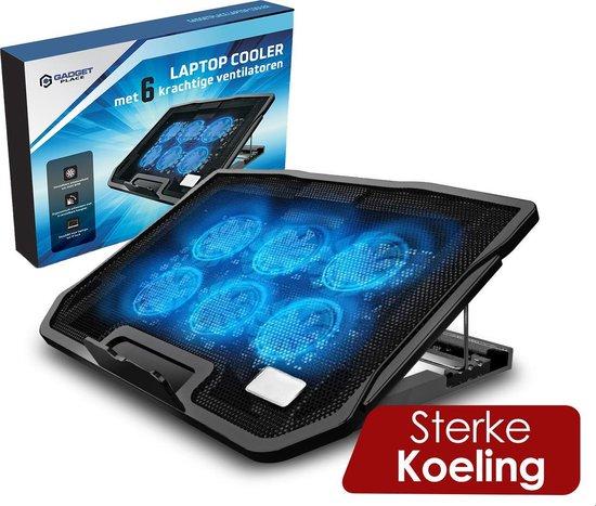 Universele Laptop Cooler met 6 krachtige ventilatoren - 12'' tot 17 inch - Laptop standaard Verstelbaar - Cooling pad - Laptophouder - Laptoptafel