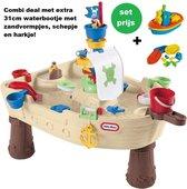 Little Tikes Watertafel Piratenboot met extra 31cm bootje met zandvormpjes. Piraat. Pirate.
