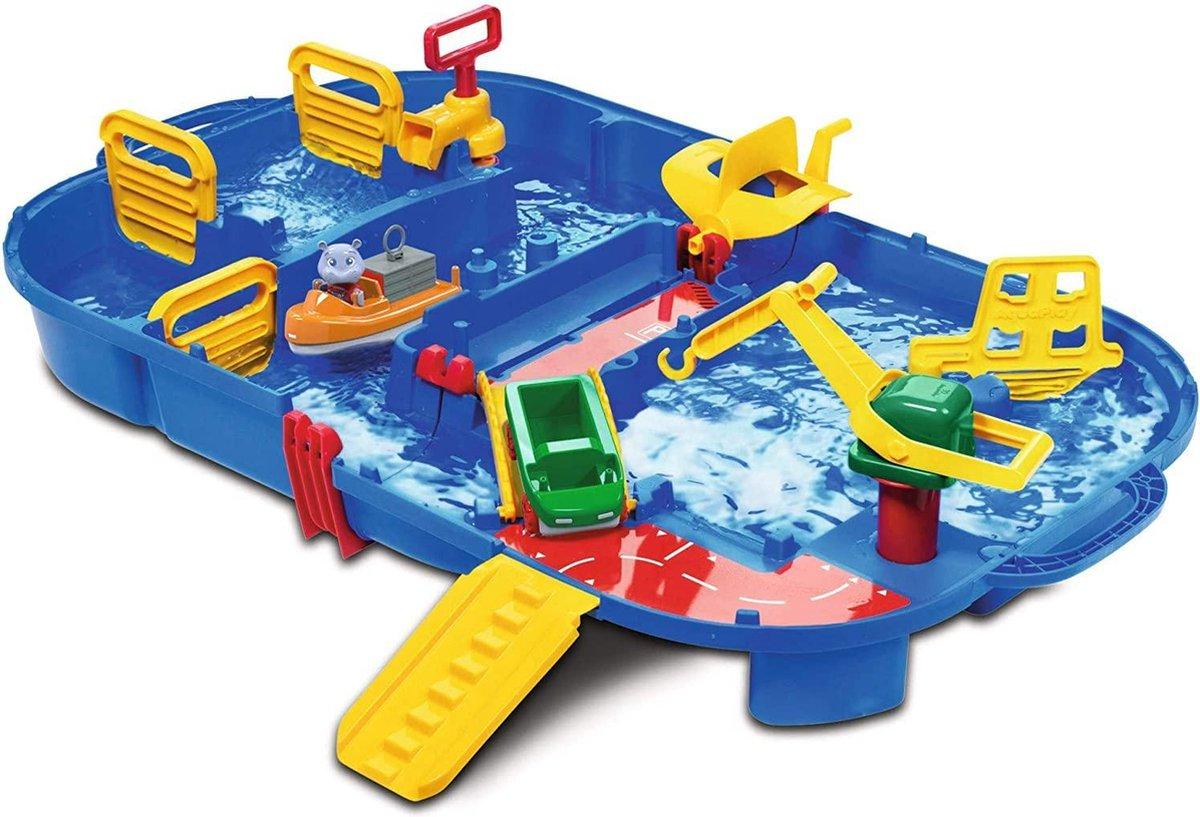 Waterspeeltafel Voor Kinderen   Waterspeelpark   Aqua play   Waterkanaal Met Sleuven, Boten En Figuren