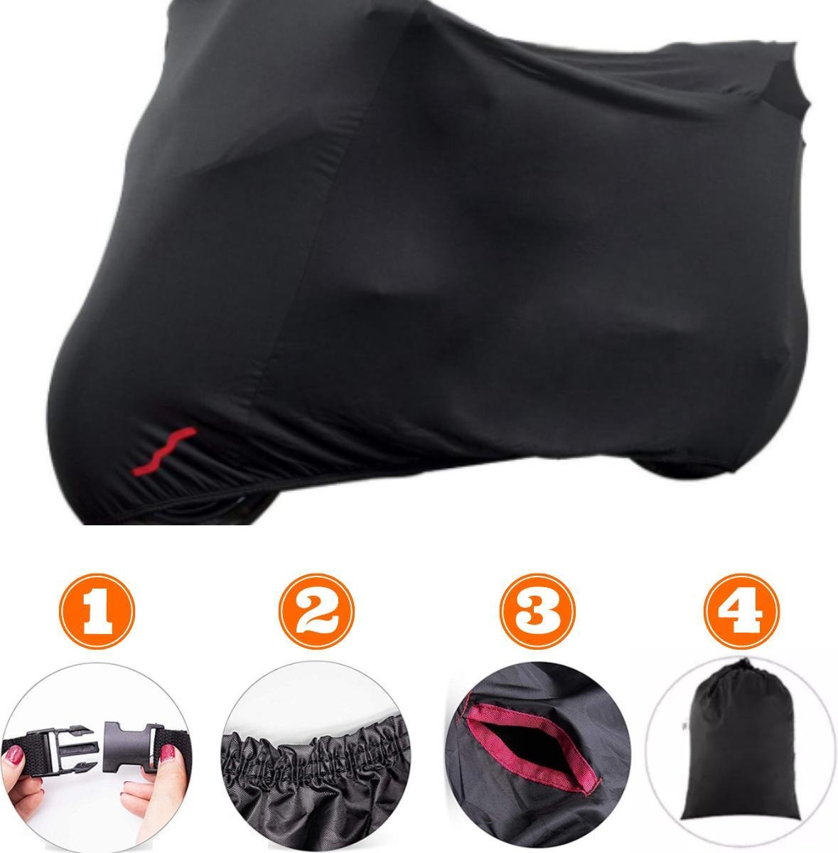 Easavida® Scooterhoes XL inclusief draagtas – Motorhoes buiten – Fietshoes voor 2 fietsen – 245 x 10