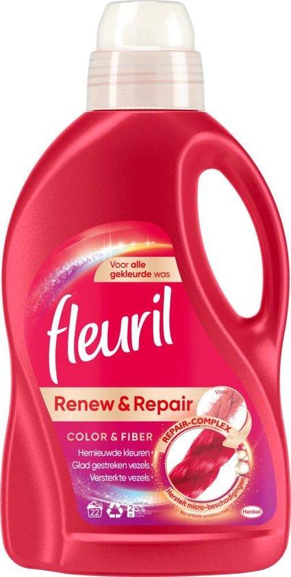 3x Fleuril Wasmiddel Renew 3D Kleur 1,32 liter