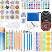Mandala Dotting Tools 75 delig incl. verf DELUXE Set Dot Painting met opbergtas en Tutorial