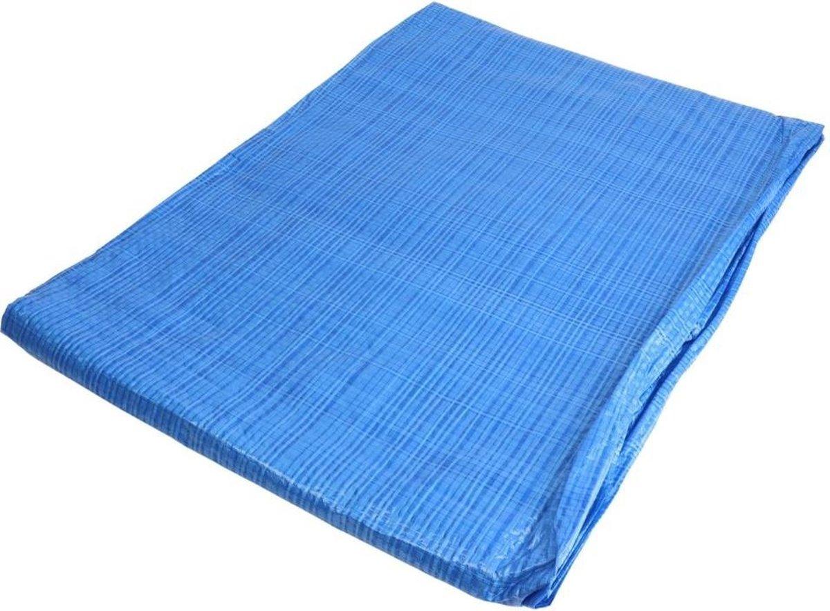 Orange85 Zwembad Afdekzeil - Blauw - 4x8 m - 75 gr per m2 - Polyethyleen - Dubbelzijdig - Gelamineerd