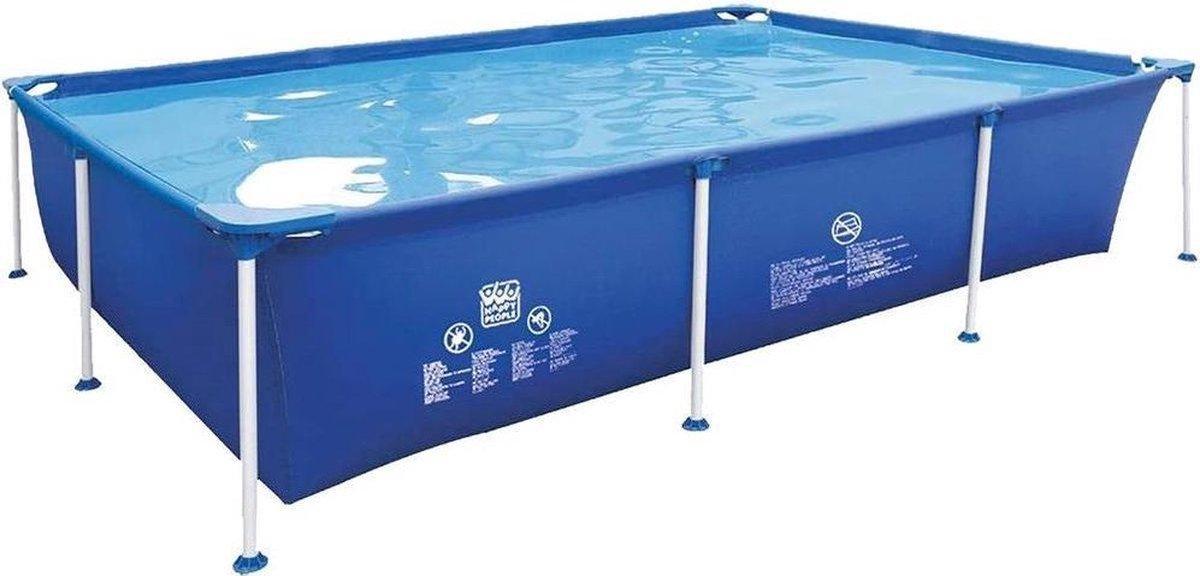 Frame zwembad 258x179x66cm Wehncke Inclusief Bestway Filterpomp.