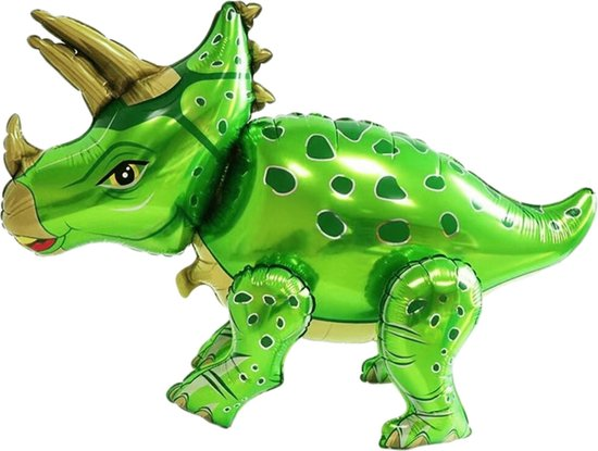 Dino Ballon - Dinosaurus Speelgoed - Triceratops - XL Groot - 55 x 90 cm - Jurassic World - Jurassic Park