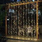 TrendZ - Terrasverlichting - buitenverlichting - sfeerverlichting 3m x 3m LED-gordijn - Warm Wit