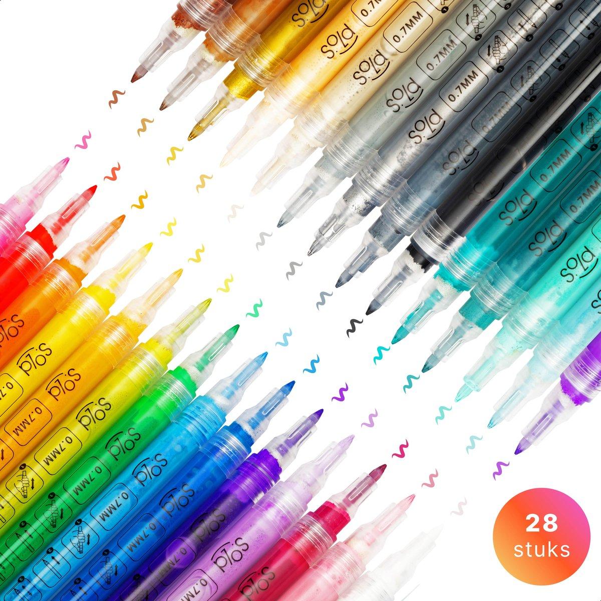 Stiften - Verfstiften - Acrylverf - Acryl stiften - Happy Stones - 28 kleuren