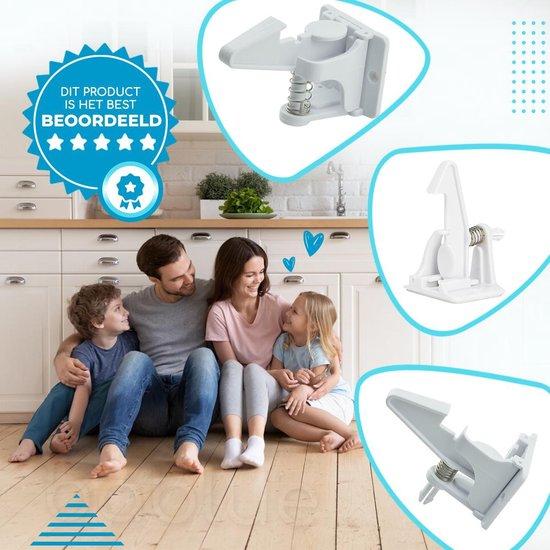 Bablue Onzichtbaar Kinderslot voor Kastjes en Lades - 10 Stuks - Wit
