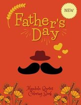 Father's Day Mandala Quotes Coloring Book