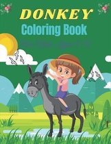 DONKEY Coloring Book For Kids Ages 9-12