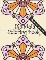 Mandala Coloring Book: Black background