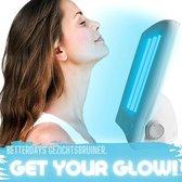 Super Tanning Gezichtsbruiner - zonnebank - solarium - face tanner voor thuisgebruik - 4 uv lampen - inclusief 2 beschermende brillen - moederdag cadeau