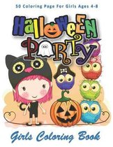Halloween Party, Girls Coloring Book