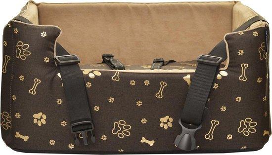 Amibelle Emma Bones - Autostoel voor honden - Wasbaar - Handgemaakt -...