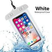 Waterdichte Telefoonhoesjes - Waterproof Hoesje voor Telefoon - Waterdicht Telefoonhoesje - Wit