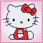 Diamond painting voor kinderen-  Hello Kitty- 16x16 cm
