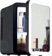 PIXMY - Skincare Fridge - 4L Inhoud Zwart - Mini Koelkast - Met Spiegel En Ledverlichting - Skincare Koelkast - Make Up Koelkast - PISCF21LED-4LB