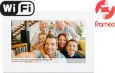 Denver PFF-1010 White - Digitale Fotolijst - Fotokader - 10.1 inch - IPS touchscreen - met Frameo software en Wi-Fi - Wit