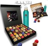 ChocolaDNA & Rituals Chocolade cadeau pakket mannen - 15 handgemaakte bonbons & Rituals Samurai Douchefoam - chocolade cadeau l chocoladepakket l voor hem l voor vaders l gefeliciteerd l beterschap l bedankt l relatiegeschenk l giftset l cadeaupakket