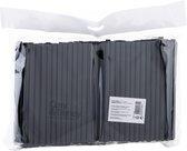 200 Cocktail rietjes Zwart Biologisch afbreekbaar - Set van 200 stuks - D0.7 x L14 cm - Bio plastic - Extra dik
