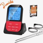 Vleesthermometer Draadloos met Timer - BBQ thermometer – Kernthermometer – Suikerthermometer – Keukenthermometer