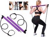 Pilates Sticks - Professionele Fitness Bar - Pilates Stick - Yoga Stok - Pilates Set - Weerstandsbanden - Pilates Bar - Full Body Workout - Thuis Gym - Fitness Elastiek - Gymstick