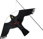 Orange85 Vogelverjager - Vlieger - Tot 7 meter - Kite Hawk - Tegen meeuwen - Met paal - Voor op het Dak - Vogelverschrikker - Zwart