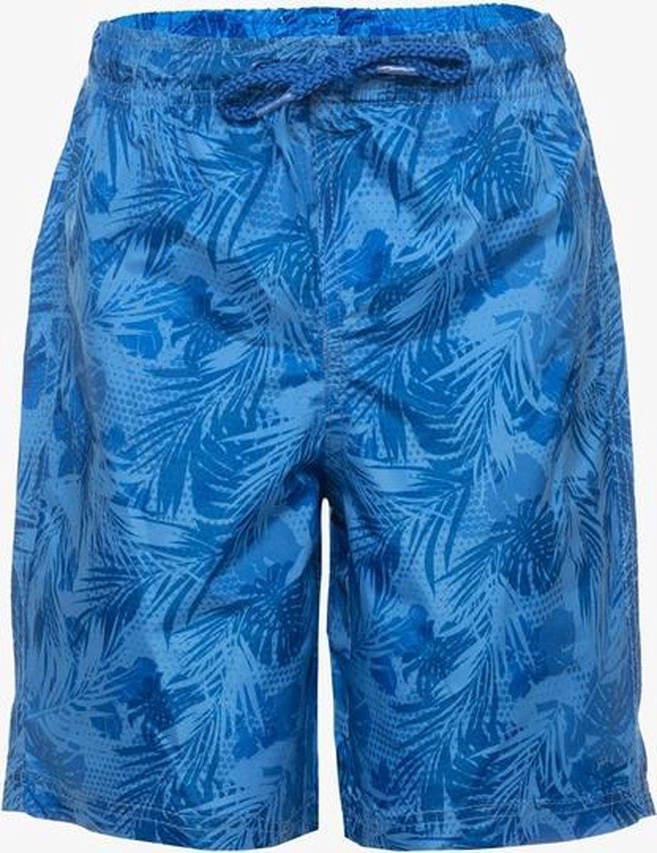 Osaga jongens zwemshort met bloemenprint - Blauw - Maat 158/164