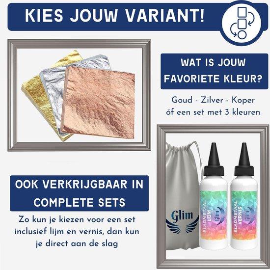 Bladmetaal – 100 vellen - ZILVER - Imitatie bladgoud –  GROTE VELLEN >> 16*16cm - A-kwaliteit