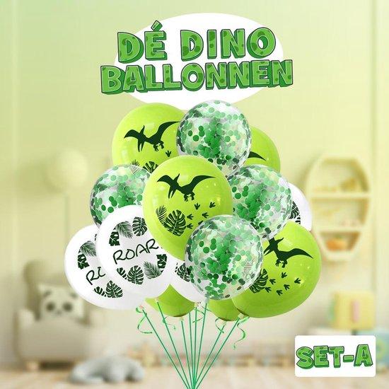 Dinosaurus ballonnen ! Set A ! | Verschillende dino ballonnen voor op een kinderfeestje of kinderkamer! | Ook leuk als speelgoed | Op te blazen met een rietje of met helium |