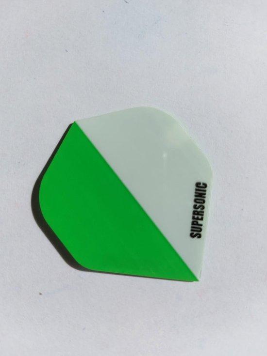 Afbeelding van het spel Supersonic 2 colours Dart Flights - 10 sets (30 stuks) - 100 micron dik