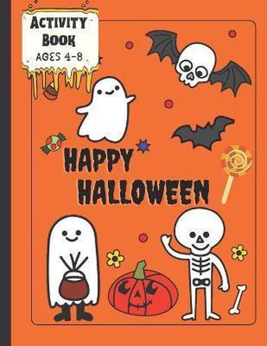Activity Book Happy Halloween Ages 4-8