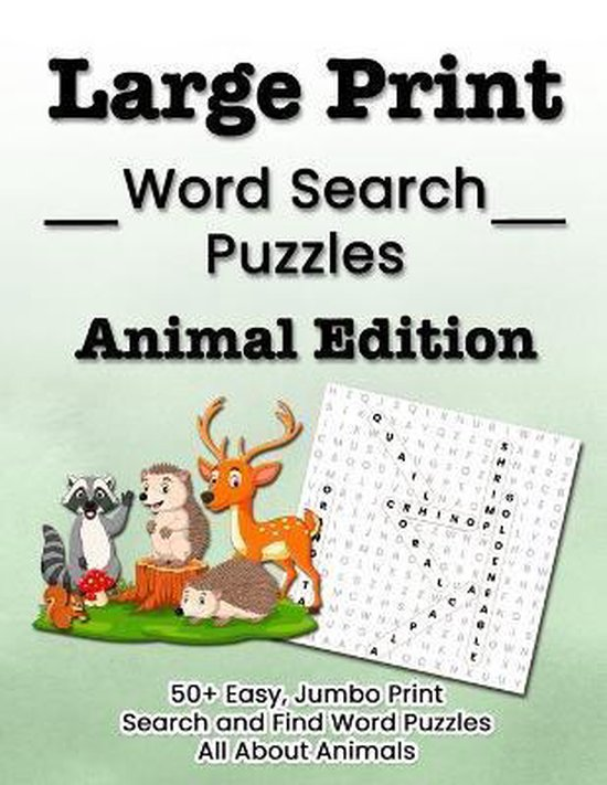 Large Print Word Search Puzzles Animal Edition