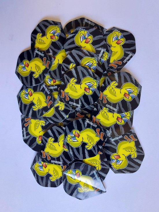 Thumbnail van een extra afbeelding van het spel Supersonic cartoon Dart Flights - 10 sets (30 stuks) - 100 micron dik