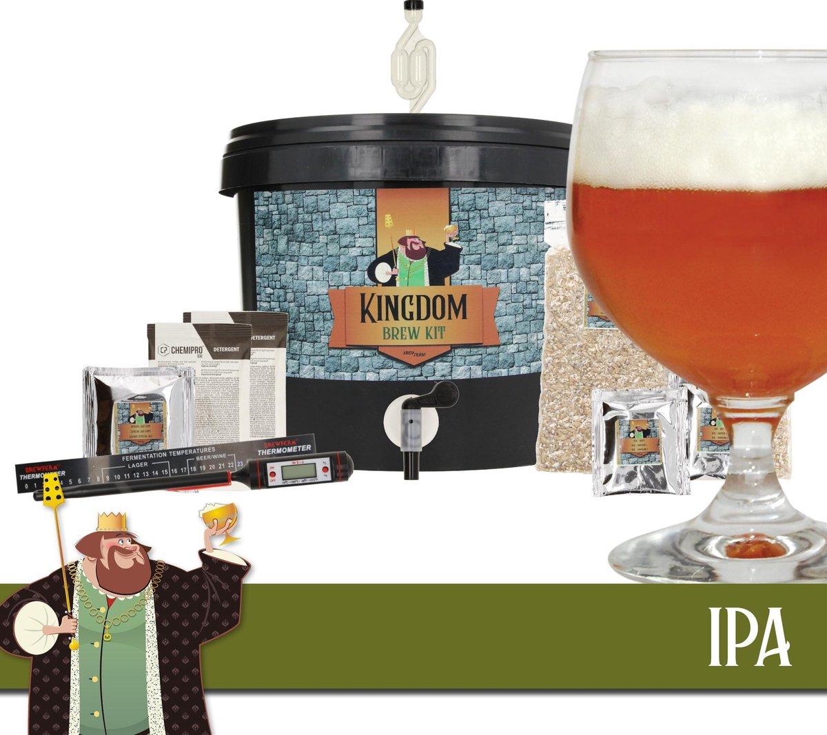 KINGDOM Bierbrouwpakket - startpakket - IPA - zelf bier brouwen - starterspakket bier brouwen - bier