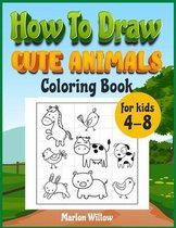 How to draw cute animals coloring book for kids 4-8