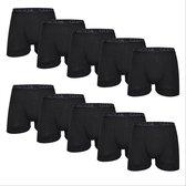 10 PACK Boxershort Heren | Katoen | Maat L | Zwart | Ondergoed Heren | Onderbroeken Heren |