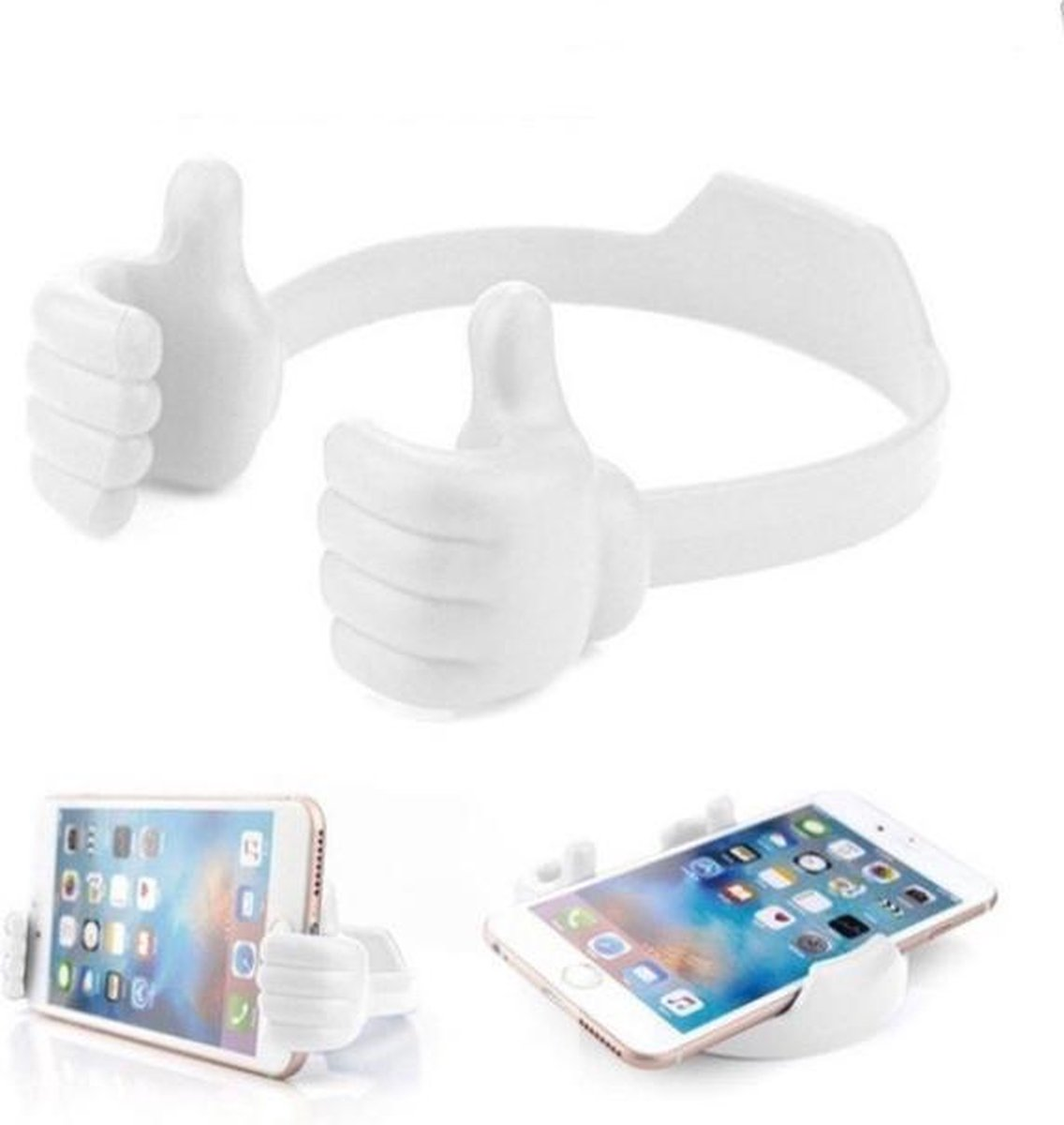 Telefoonstandaard - Speelgoed - Cadeau - Telefoonhouder Fiets - Gsm Houder - Universeel - Tablet - Smartphone - Kinderen en Volwassenen - Flexibel - Abs - Wit