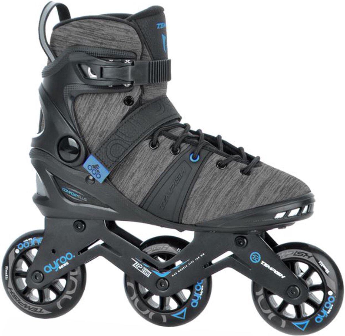 Tempish Ayroo 90 Inlineskates - Maat 43 - Unisex - zwart - grijs - blauw